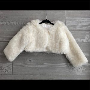 Gymboree faux fur cardigan NEW without tags